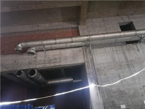 中央公园龙湖天街柴发烟囱施工