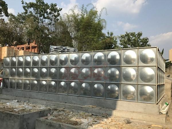 不锈钢水箱施工现场